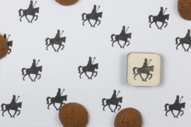 Mini stempel - Sint op paard