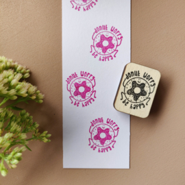 Stempel donut - donut worry be happy