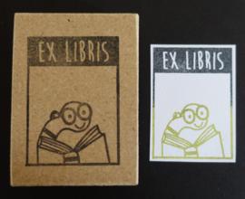 Stempel ex libris boekenwurm