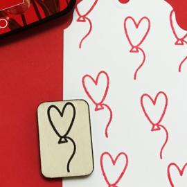 Stempel ballon hart