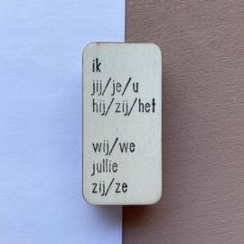 Stempel persoonlijk voornaamwoord - Nederlands