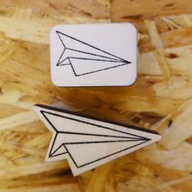 Stempel origami vliegtuig