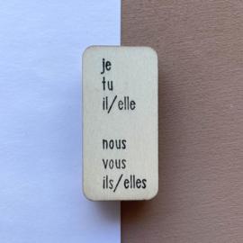 Stempel persoonlijk voornaamwoord - Frans