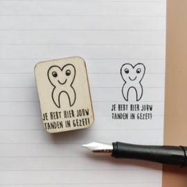 Stempel tanden ingezet