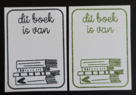 Stempel ex libris boeken