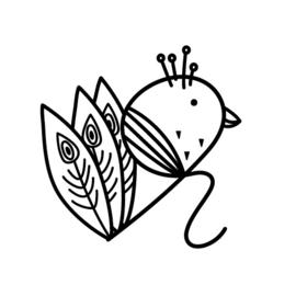 Stempel - krul pauw