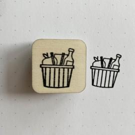Stempel mini - mandje boodschappen
