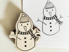 Stempel sneeuwpop