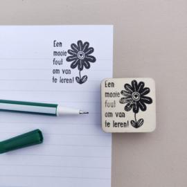 Stempel aanmoediging bloem 4
