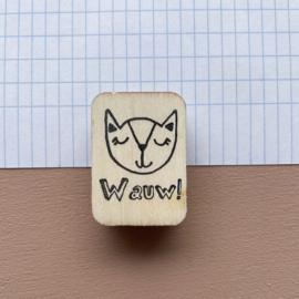 Stempel kat - Wauw!