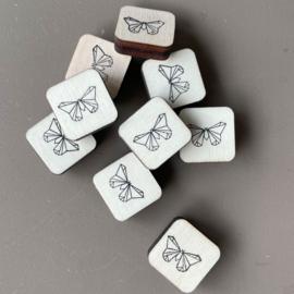 Stempel mini - origami vlinder