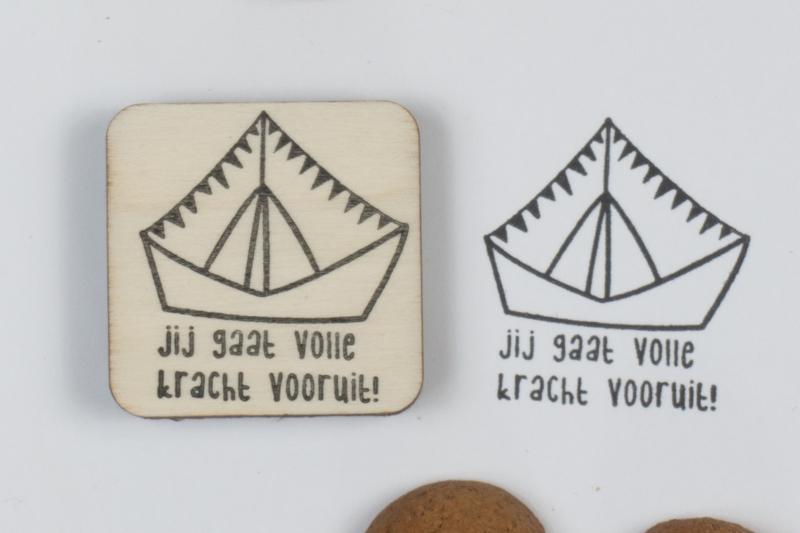 Stempel - Stoomboot 'jij gaat volle kracht vooruit!'