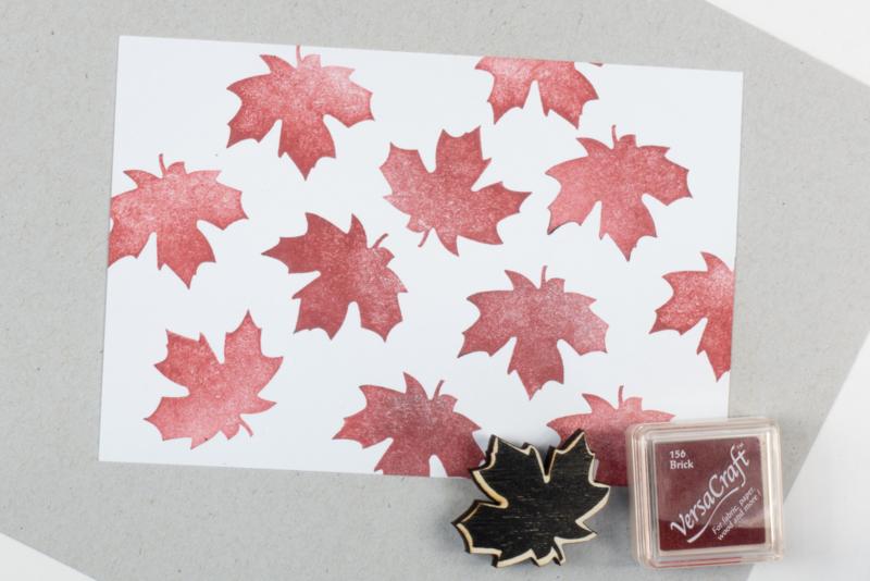 Stempel herfstblad