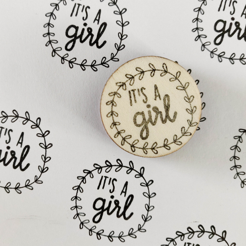 Stempel it's a girl