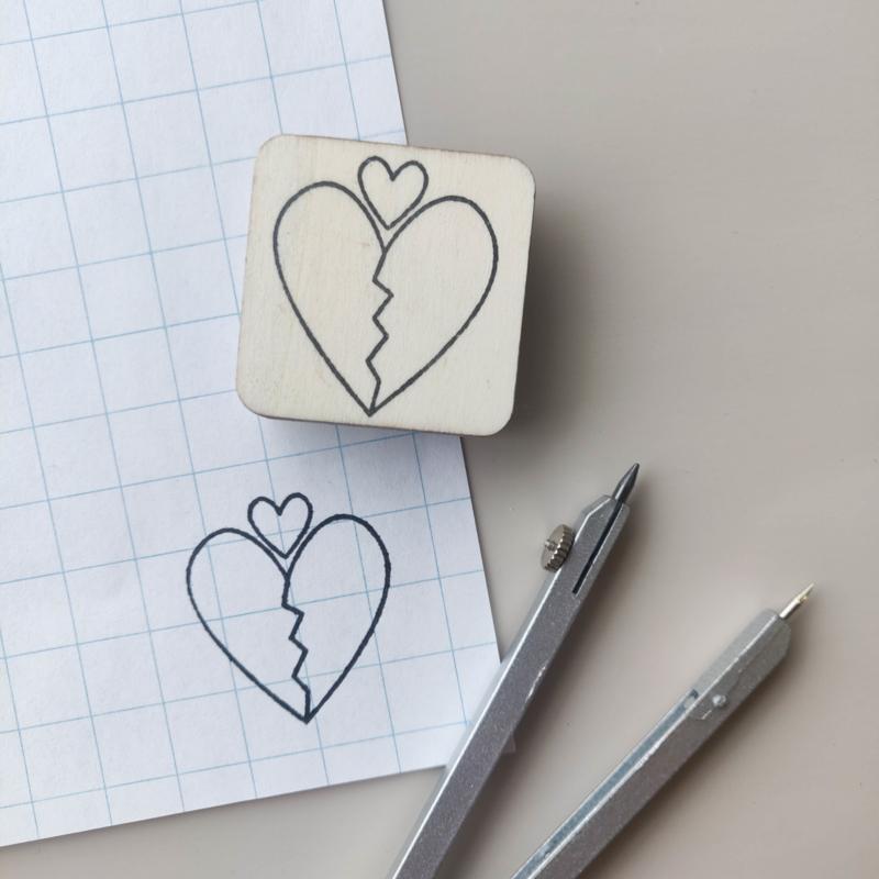 Stempel verliefde harten