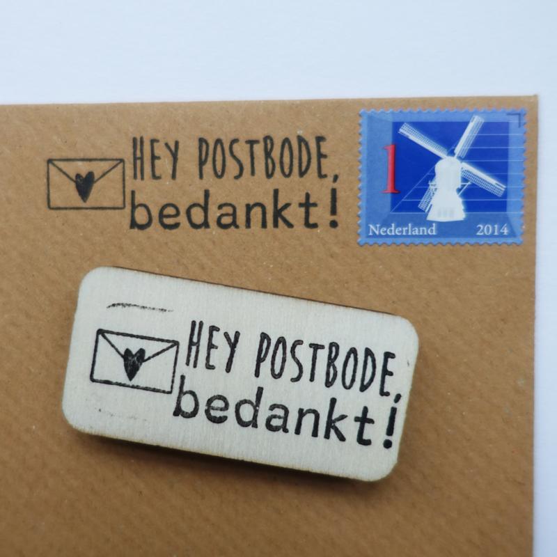 Stempel Postbode bedankt!