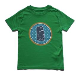 shirt monster groen, maat 3-4