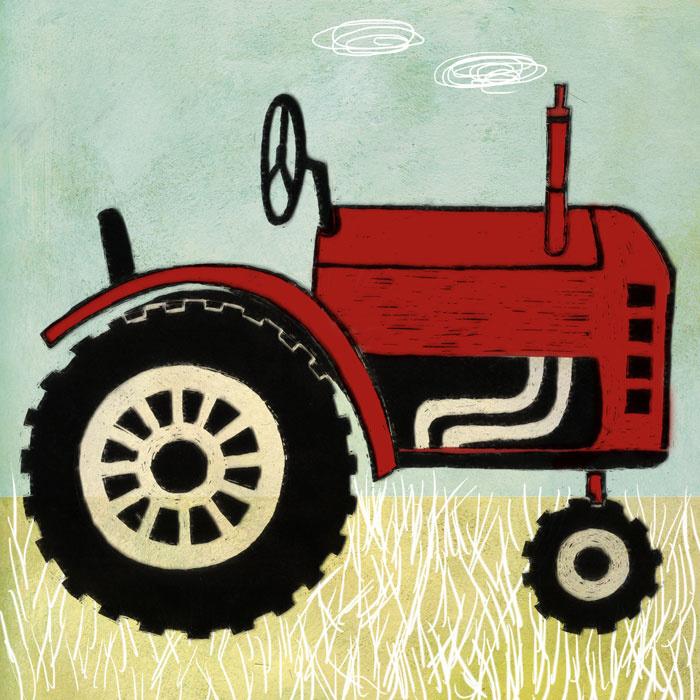 """kaartje """"tractor"""""""