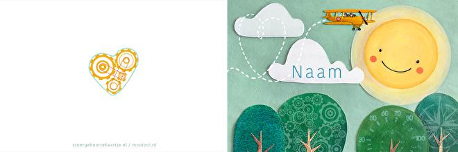 """geboortekaartje """"in de wolken"""" opne"""