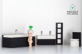 Complete bathroom set black