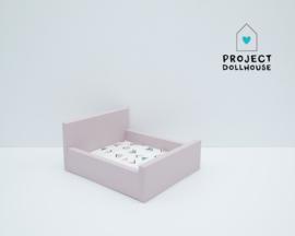 Tweepersoonsbed dicht model Oud roze