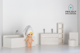 Complete bathroom set white