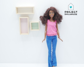 Wandkastjes set Barbie formaat