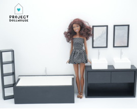 Bathroom black Barbie scale