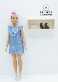 Houten wandkastje Barbie formaat