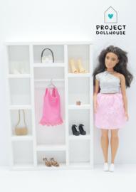 Barbie size wardrobe White
