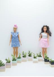 Plantenbakken set Barbie formaat