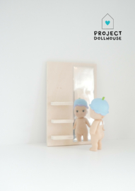 Wooden mirror wall rectangle