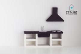 Modern kitchen black 18 cm