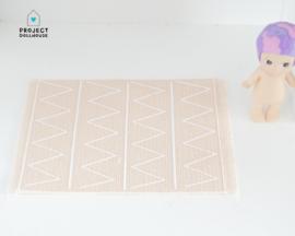 Carpet salmon print