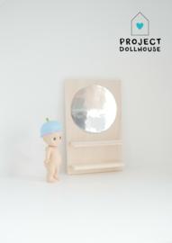 Wooden mirror wall circle