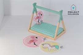 Flamingo cushion - Poppaa
