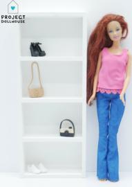 Witte kast Barbie formaat