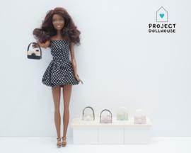Houten decoratie camera Barbie formaat