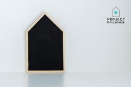House shaped calk board