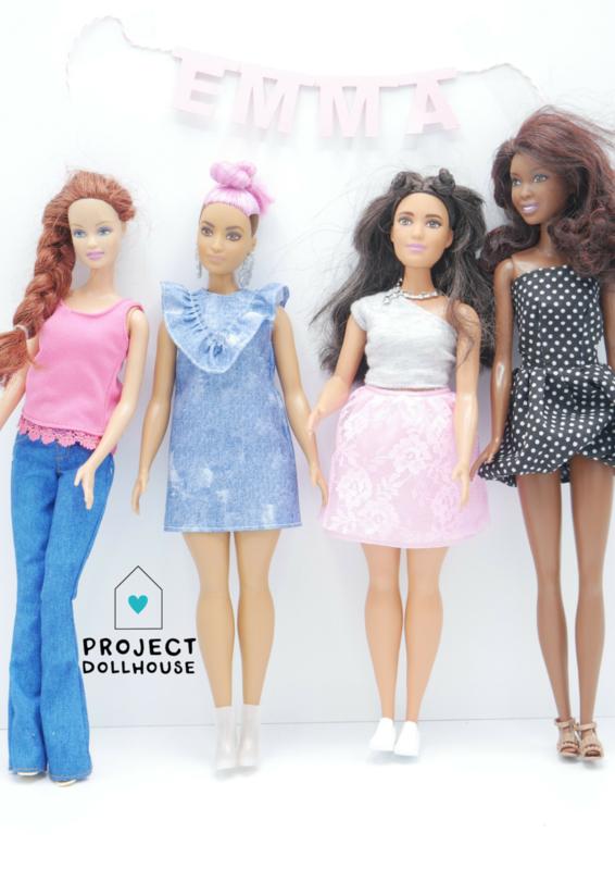 Naamslinger Barbie formaat