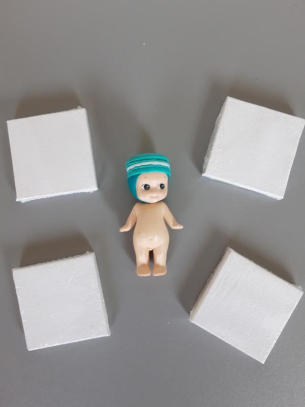 Canvas doek poppenhuis formaat