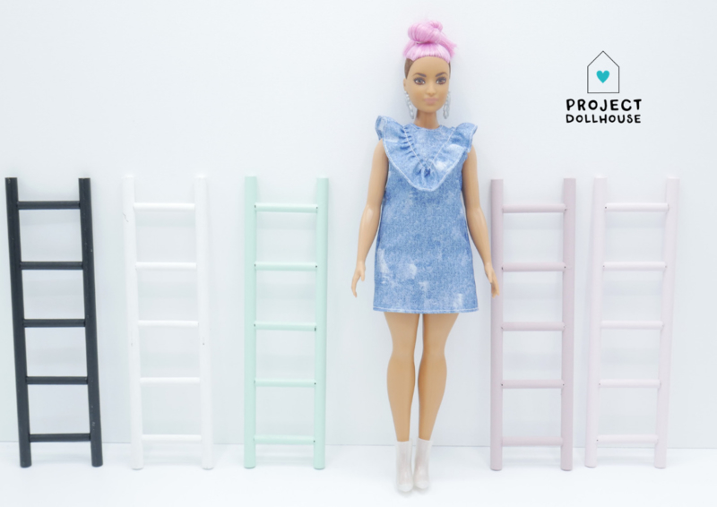 Decoratie ladder Barbie formaat