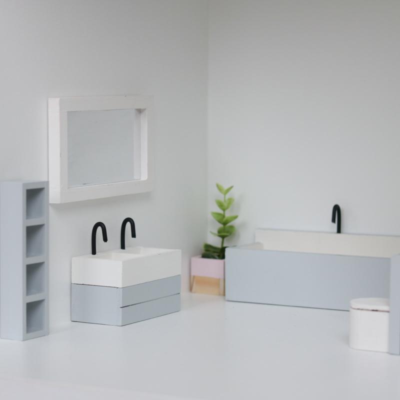 Super Complete Bathroom Set Grey Bathroom Projectdollhouse Download Free Architecture Designs Scobabritishbridgeorg
