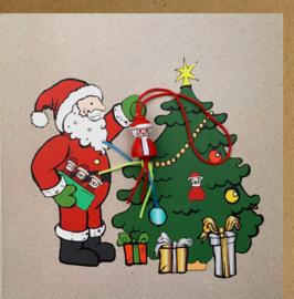 Wenskaart kraft kerstman