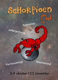 Schorpioen-ansichtkaart