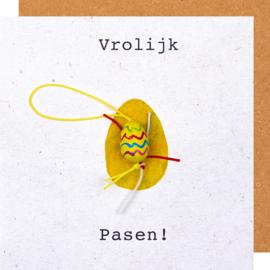 Wenskaart vrolijk pasen ei