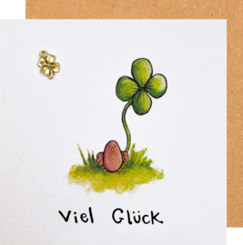 Grußkarte Viel Glück