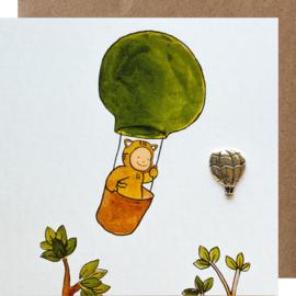 Grußkarte Luftballon
