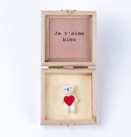 Ours en boîte Je t'aime bien