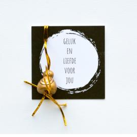 kaartje zwart wit geluk
